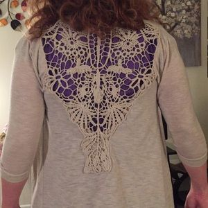 Wet Seal Open Backed Cardigan